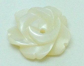 Mother of Pearl Rose Buttons or Beads - ROS0002N