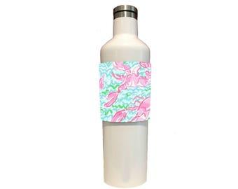 Custom Tumbler, Stemless Wine Wraps Shellfish For Corkcicle, Yeti, RTIC, Swig, CamelBak & Hydroflask