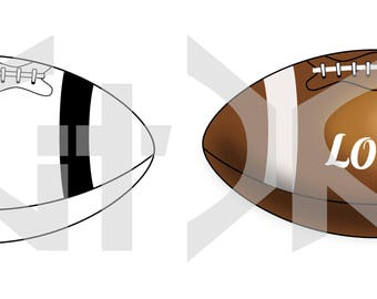 Football (vector file) digital download