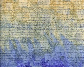 Digital Raw Sienna and Blue Collage Instant Download Background Paper for Paper Arts, Scrapbooking, Mixed Media, Collage and MORE PSS 2919