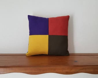 Color Block Pillow, Patchwork Throw Pillow, Baby Pillow