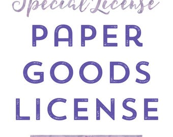 EXTENDED USE LICENSE Paper Goods License for Commercial Use Clip Art, Commercial Use License, Sticker
