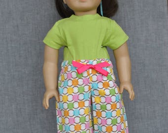 2 Piece Pajama Set for American Girl Doll /18 inch Doll