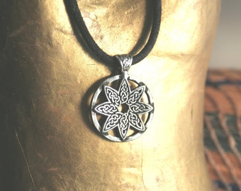 Celtic Knotwork Pewter Pendant Celtic Angel Star Charm Eight Point star