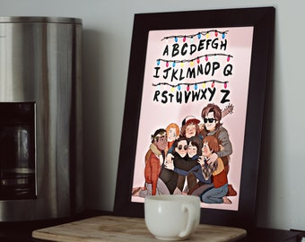 Stranger Things Art, Stranger Things Poster, Stranger Things Gift, Eleven, Netflix, Stranger Poster, Movie Poster, Upside Down, Wall Art