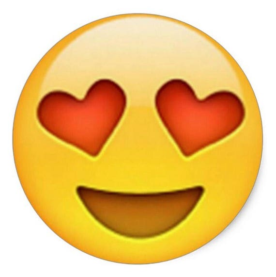 en amour coeur yeux emoji autocollants 1 feuille. Black Bedroom Furniture Sets. Home Design Ideas