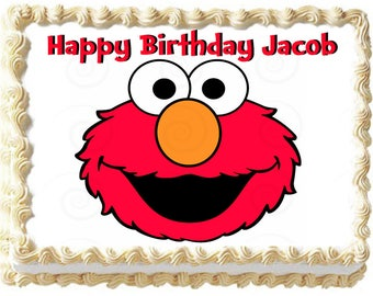 ELMO FACE Image Edible cake topper party decoration