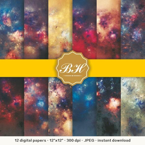 Nebula Galaxy Digital Paper Space Digital Paper Universe