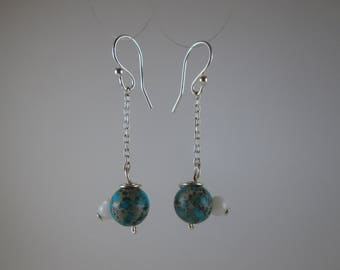 """Imperial Jasper """"MotherEarth"""" Earrings on Sterling Silver"""