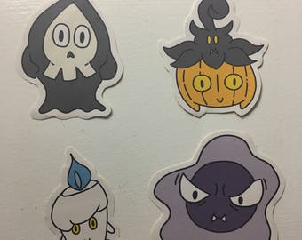 Ghost Pokemon Stickers