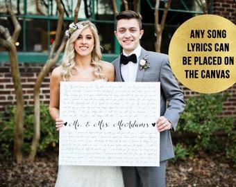 Wedding Sign, Wedding Vows on Canvas
