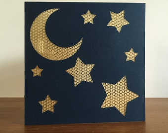 Moon and Stars Card #2