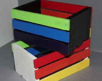 Rainbow Mini Storage Crates