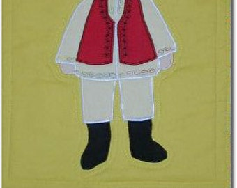 International Adoption Quilt Patterns - Romanian Boy
