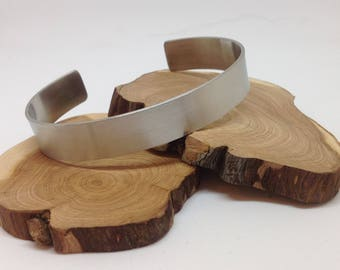 Men stainless steel cuff Bangle Bracelet