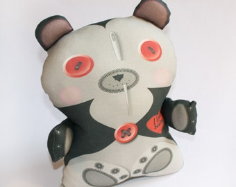 Halloween toy, Vampire toy bear, Organic cotton, Stuffed toy, baby toy, plush toy, teddy bear, Organic toy