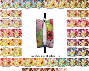Auto Sneeze - Floral Burst - PICK YOUR COLOR - Visor Tissue Case/Cozy - Car Accessory Automobile damask floral flower