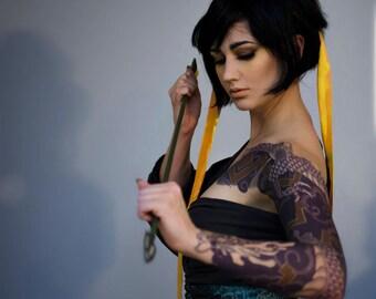Hanzo Cosplay Tattoo Sleeve