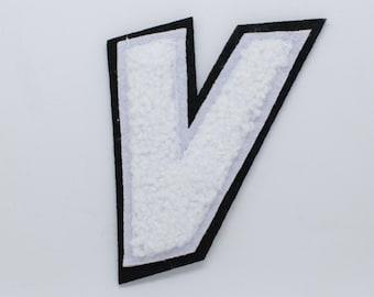 V Varsity Letter applique