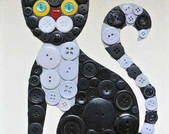 Button Craft KIT for Kids - Kitty Cat