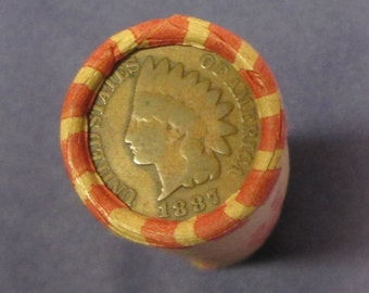 Unsearched Rolls of Wheat Pennies W/ An Indian Head--Free  Shipping!!