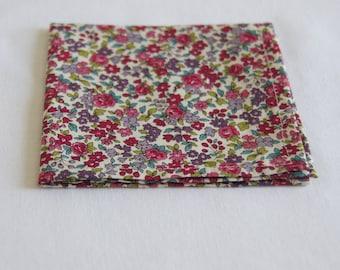 Pocket square floral Pink/Purple