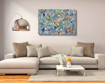 """60"""" x 72"""" XX-large abstract painting"""
