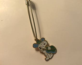 Vintage 80's Snoopy Mariachi/Guitar Pin