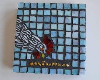 Chicken Mixed Media Mosaic