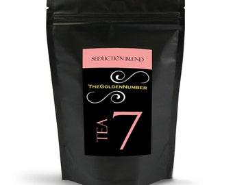 Turmeric Tea - SEDUCTION BLEND - Gourmet Tea, Caffeine Free Hibiscus, All Natural Tea Blend - 15 Sachets