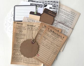 Vintage Paper Pack - Vintage Ephemera - Junk Journal Supply - Vintage Paper - Vintage Book Pages - Vintage Sheet Music - Vintage Paper Money
