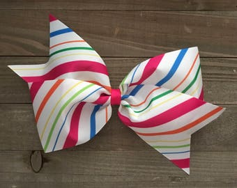"""Candy Stripes 7"""" Bow"""