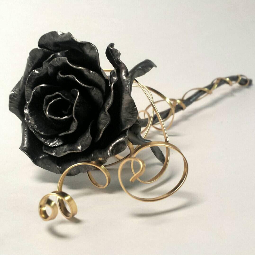 Steel Anniversary Gift Metal Rose Forever Flower Metal