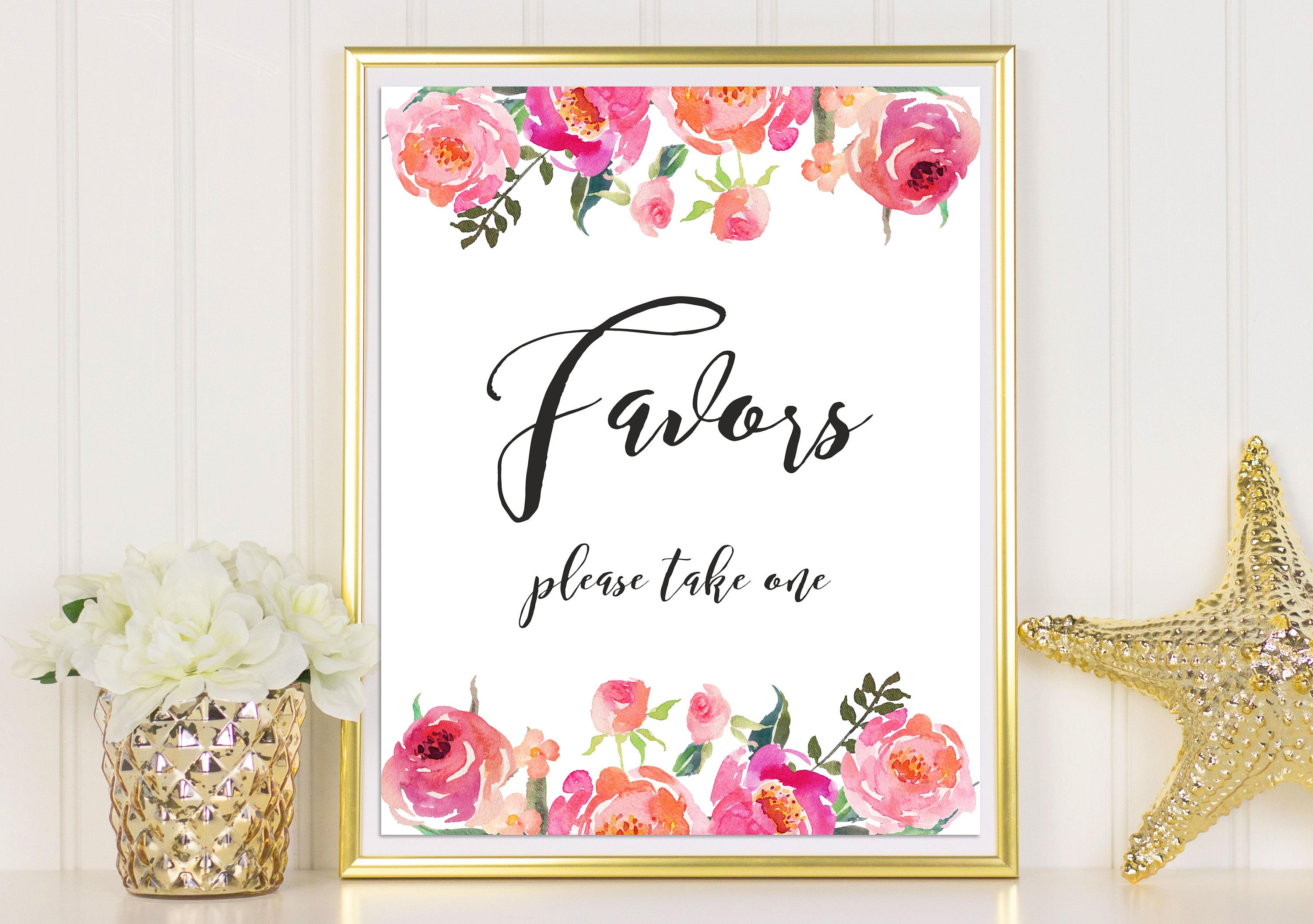 Wedding Favor Sign Party Favors Sign Please Take One Favor