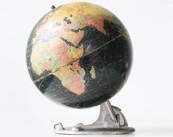 Vintage Replogle Globe, Atlas Men Base, Art Deco Style, 1930s
