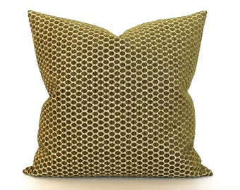 Green Pillow Cover Chenille Upholstery Fabric Decorative Pillow Throw Pillow Cover Euro Sham 26x26 24x24 22x22 20x20 18x18 16x16