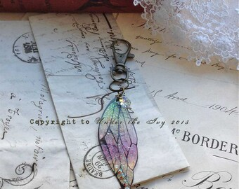 Magical Fire faerie wing keyring
