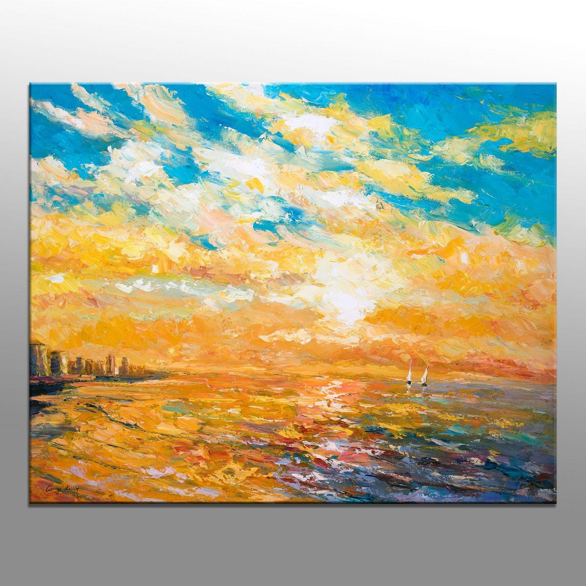 Large Oil Painting Canvas Wall Art Kitchen Art Abstract Oil