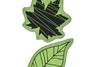 Inkadinkado  Fall Leaf Leaves Icons Autumn Tree Cling Rubber Stamp