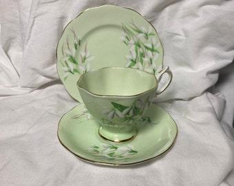 Royal Albert Laurentian Snowdrop tea trio 2234 pattern