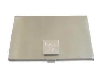 Engraved Ostrich Business Card Holder
