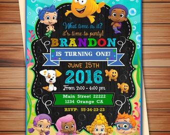 Bubble invitation Etsy
