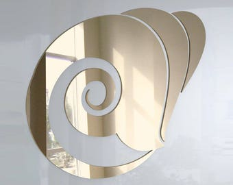 Shell Mirror - Available in various sizes, including sets for crafting kits