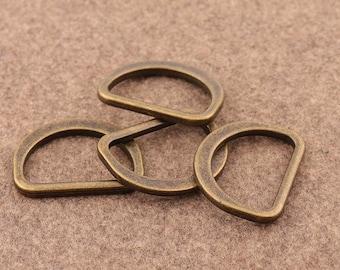 "4 Pcs Antique Bronze  D Ring  1"" Metal D Buckle Belt Strap Buckle Webbing D Ring  Handbag Accessories Leather Craft Hardware"