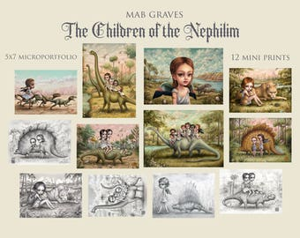 Children of the Nephilim Microportfolio - 12 5x7 mini prints by Mab Graves