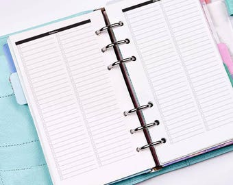 Grocery and Shopping list printable Personal planner size recto verso - Minimal collection