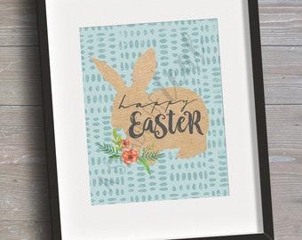Happy Easter Printable Sign V1 // INSTANT DOWNLOAD // Spring Easter // Printable, Digital