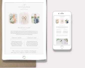 INSTANT DOWNLOAD! Wedding Photographer Newsletter Template for Email & Pinterest - Photography Marketing Templates - Email Design Templates