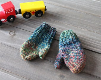 HANDMADE | Infant Mittens, Baby Mittens, Knit Mittens, Wool Mittens