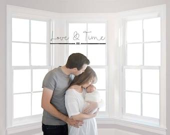 Window Digital Background - maternity - newborn - child - family - Instant Download